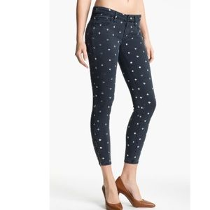 MOTHER The Looker Print Ankle Zip Skinny Jeans